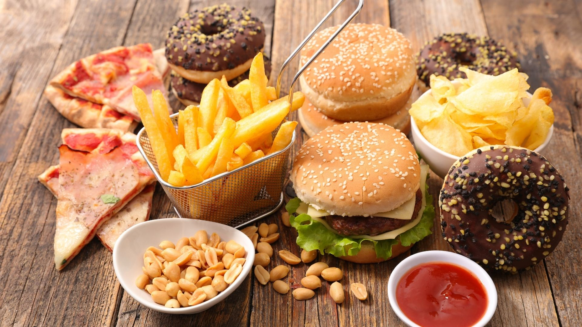 加工類食品, 譬如炸雞、麥當勞